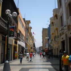 Rue commerçante piétonne Lima