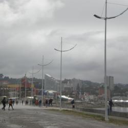 Puerto Montt sous la pluie