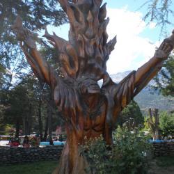 Arbre sculpté El Bolson