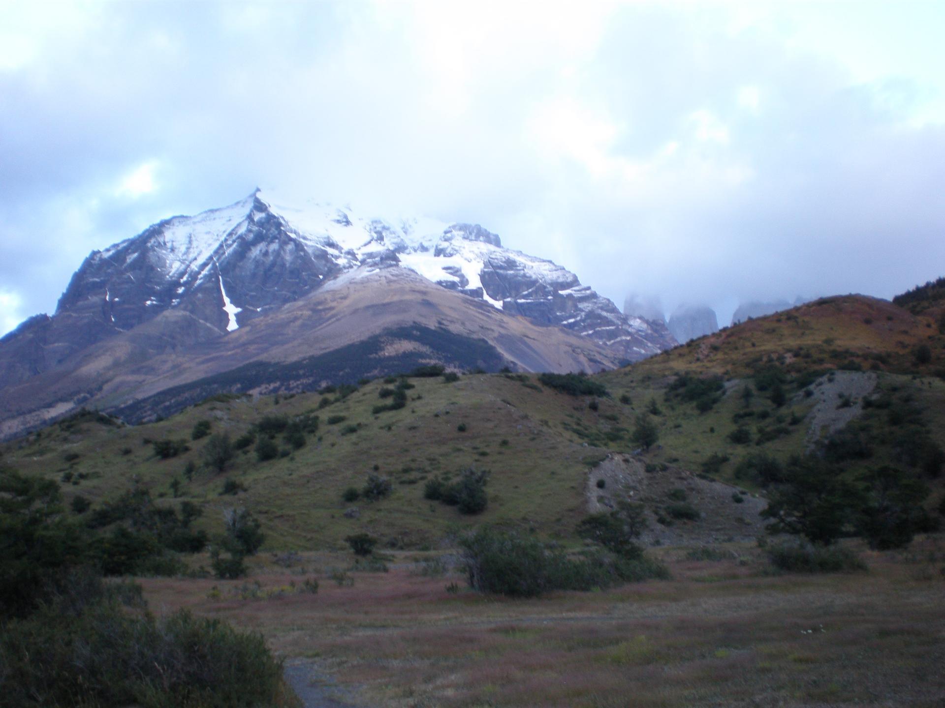 Torres del Paine dans les nuages